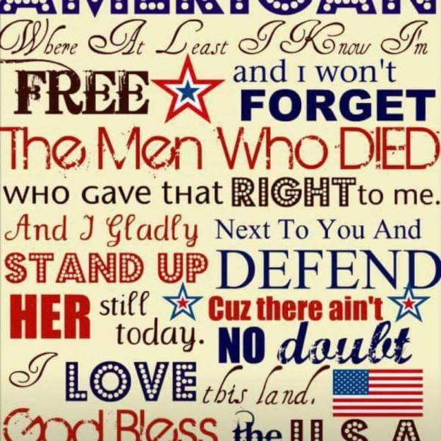 tmb God bless the USA