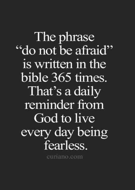 blog do not be afraid appears